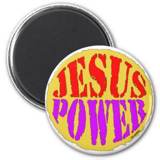 Jesus Power 2 Inch Round Magnet