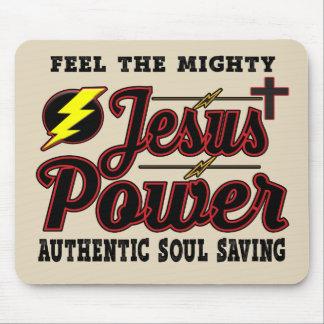 Jesus Power Mouse Pad