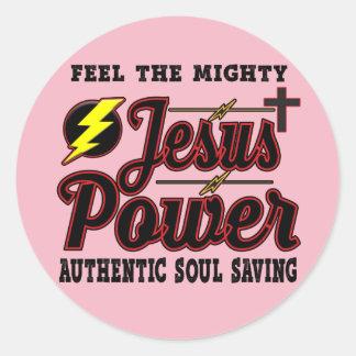 Jesus Power Round Sticker