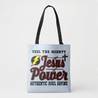 Jesus Power Tote Bag