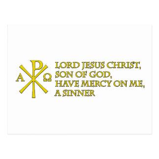 Jesus Prayer with Chi-ro Postcard