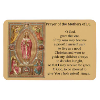 Jesus Priest Host Angels Prayer Magnet