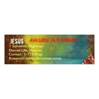 Jesus Profile Card Business Card Templates