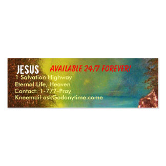 Jesus Profile Card Pack Of Skinny Business Cards