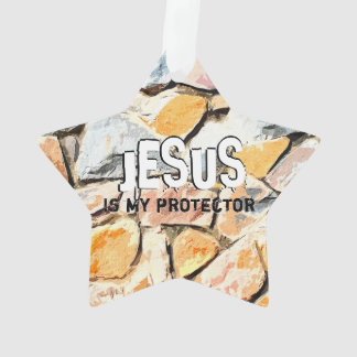 JESUS protects me Ornament