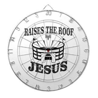 Jesus raises the roof yeah dartboard