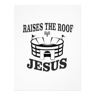 Jesus raises the roof yeah letterhead