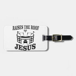 Jesus raises the roof yeah luggage tag