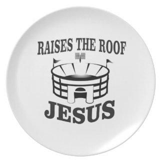 Jesus raises the roof yeah plate