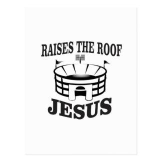 Jesus raises the roof yeah postcard