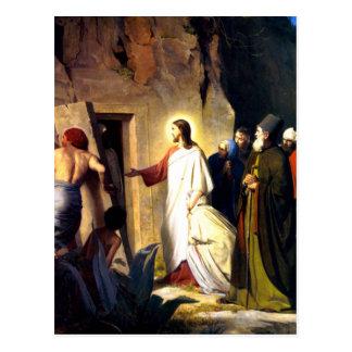 Jesus Raising Lazarus from the Dead Postcard