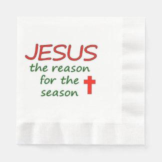 JESUS Reason for Season Paper Napkin