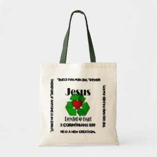 Jesus Recycled My Heart Tote Bag