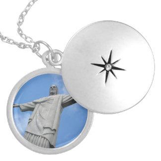 jesus redeemer locket necklace