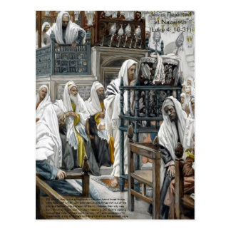 Jesus Rejected at Nazareth Postcard