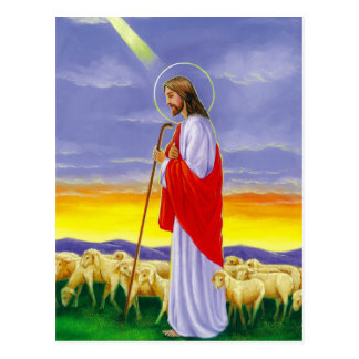 Jesus, religious Easter card