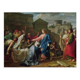 Jesus Resurrecting the Son of the Widow of Naim Postcard