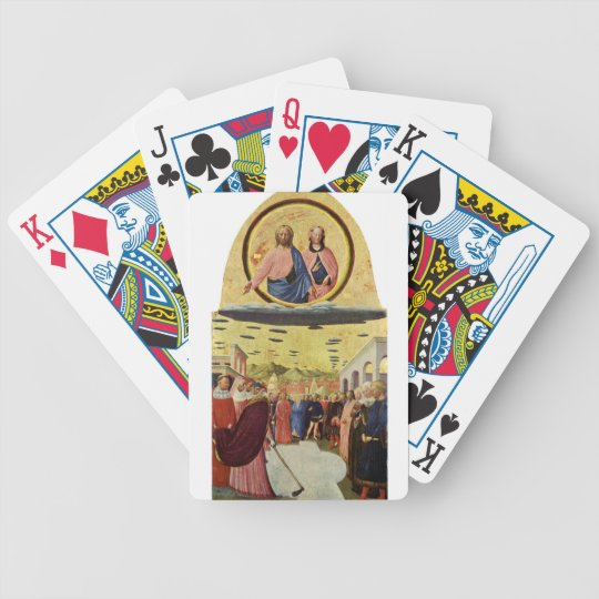 Jesus Rides a UFO Bicycle Playing Cards