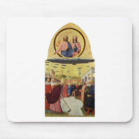 Jesus Rides a UFO Mouse Pad