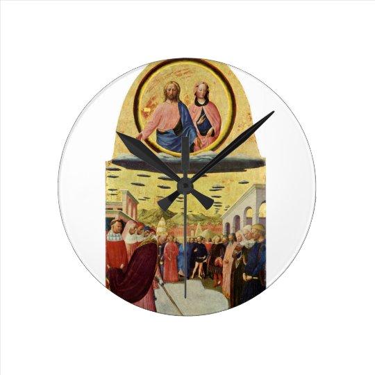 Jesus Rides a UFO Round Clock