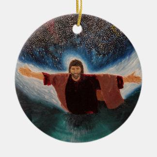 Jesus Round Ceramic Ornament