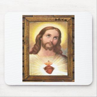 JESUS SACRED HEART  WOOD FRAME 18 CUSTOMIZABLE PRO MOUSE PADS