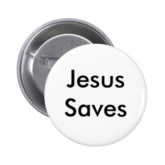 Jesus Saves 2 Inch Round Button