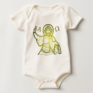Jesus saves Alpha and Omega Baby Bodysuit
