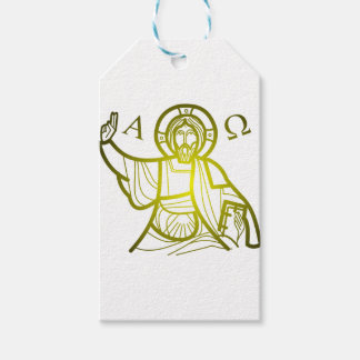 Jesus saves Alpha and Omega Gift Tags
