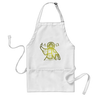 Jesus saves Alpha and Omega Standard Apron