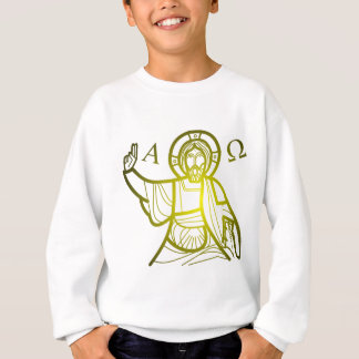 Jesus saves Alpha and Omega Sweatshirt