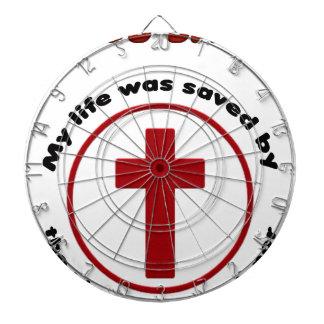 jesus saves, christian religion gift t shirt dartboard