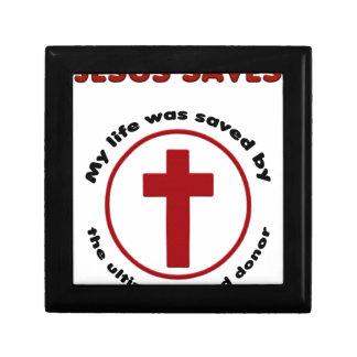 jesus saves, christian religion gift t shirt gift box
