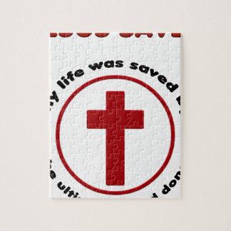 jesus saves, christian religion gift t shirt jigsaw puzzle