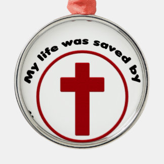 jesus saves, christian religion gift t shirt metal ornament