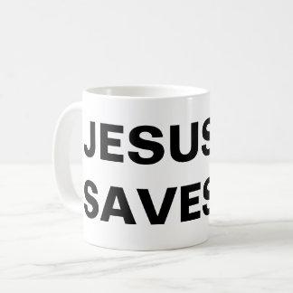 """Jesus Saves"" Classic Mug"