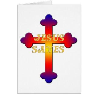 Jesus Saves Cross Cards
