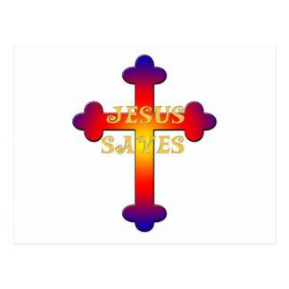 Jesus Saves Cross Postcard