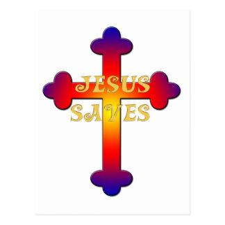 Jesus Saves Cross Post Card