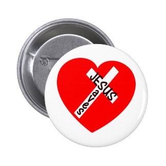Jesus Saves (Heart) 2 Inch Round Button