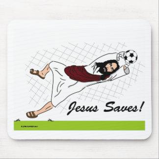 JESUS SAVES! MOUSE PAD