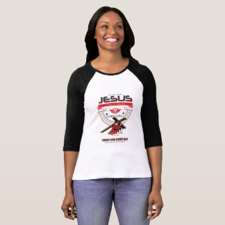 Jesus Saving Souls Women's Raglan T-Shirt