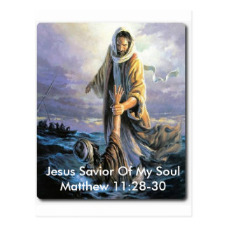 Jesus Savior Of My Soul Postcard