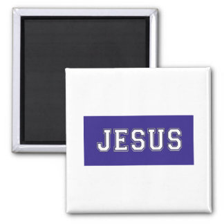 JESUS School Colors White Deep Blue Magnet