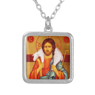 Jesus Seeker of Lost Sheep Silver Plated Necklace