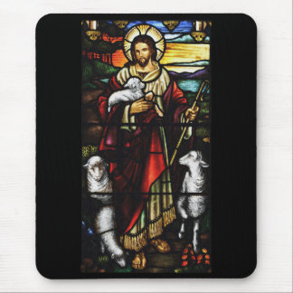 Jesus Shepherd with His Sheep Mouse Pad