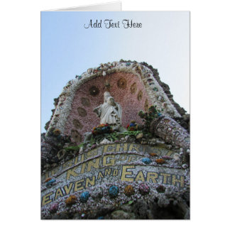 Jesus Shrine Saints Statue Blank Card