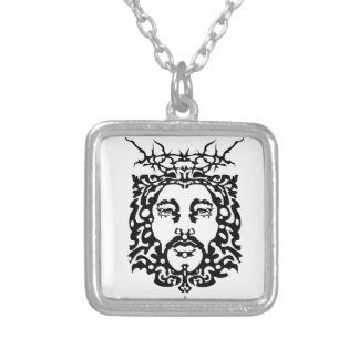 JESUS SILVER PLATED NECKLACE