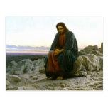 Jesus Sitting on a Rock Post Card