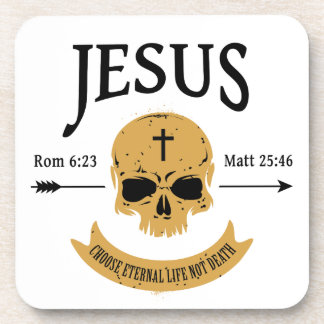Jesus Skull Eternal Life Christian Coaster